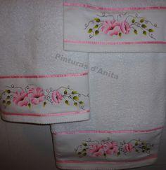 Pinturas d'anita - pintura de la tela: toallas de baño para adultos