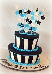 blue and black cake - Google Search