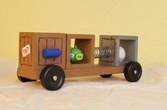 Bad Piggies pinewood derby car