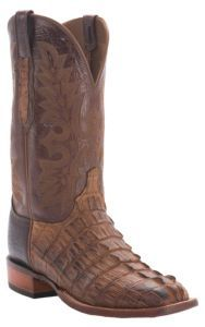 Lucchese® Cowboy Collection™ Men's Natural Burnish Hornback Exotic Square Toe Boot | Cavender's