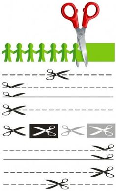 2 scissors papercut vector