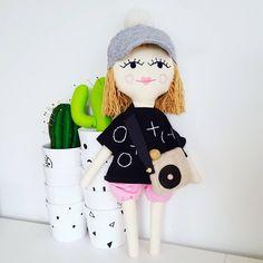 Personalized doll for lovely little Lena Crazy Parrots 💖 👼    #plushie #doll #dollmaker #embroidered #sewcute #handmadedoll #kidsdecor #dollface #instamatka #lalka #recznierobione #handmade #hairdoll #softtoy #girltoys #heirloomdoll #blondhairs #etsykid #design #dladziecka #dollclothes #dollmaker #design #przytulanka #forkids #kidsroom #scandistyle #sweet #cap #holidays