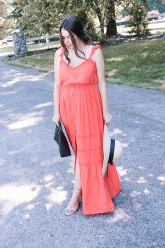 Button Down & Ruffled Maxi Dress - My Sweet Genevieve