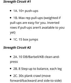 Strength Circuits 1&2