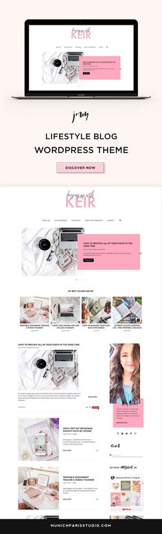 Keirstin from Keeping up with Keir is rocking our Jouy Theme! Wordpress Website Design, Website Design Layout, Website Design Inspiration, Blog Design, Design Ideas, Fashion Website Design, Fashion Design, Fashion Show Themes, Web Design Trends