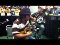 Aldrine Guerrero and Aaron Nakamura at NAMM 2011.  Aldrine is AWESOME!!!  ~ Libby