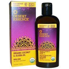 Desert Essence Organic Coconut & Jojoba Oil (1x4 OZ)