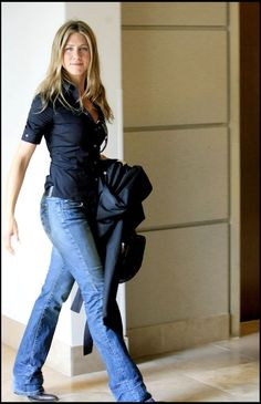 Jennifer Aniston Im sorry but bootcut jeans will always be in style for me.