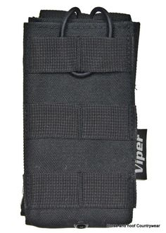 Viper Quick-Release Mag Pouch - Black Modular mag pouch features elastic retention strap with pull tab modular webbing on the front and holds 1 x M16