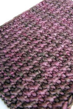 Fire to Earth: Brown Berries Scarf, Back View | On Ravelry | iSeL Knits | Flickr