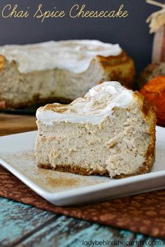 Bring some spice into your life with this Chai Spice Cheesecake! This tall spicy cheesecake is just what you'd expect from a Chai Spice Cheesecake. For m