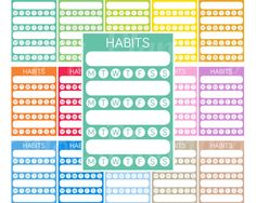 Printable Weekly Habits Planner Stickers Sidebar Planner Sticker Erin Condrenn Sidebar Weekly Habit Stickers Tracker Habit Sidebar stickers by EnjoyPlanning on Etsy