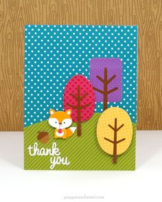 Friendly Forest: Cute & foxy card by Amanda Coleman from Doodlebug Design using the new Friendly Forest collection