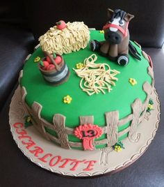 Horse Themed Birthday Cake  Cake by Gills Cupcake Corner