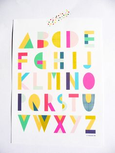 20 Pieces of Alphabet Art for Your Baby's Nursery via Brit + Co.
