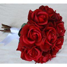 Artículos similares a Toque natural rosas de novia ramo de novia y Boutonniere Set---otro colorea disponible en Etsy