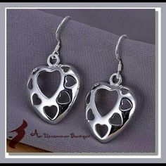 Silver Hollow Drop Earrings .925 hand picked by us for you Jewelry Earrings
