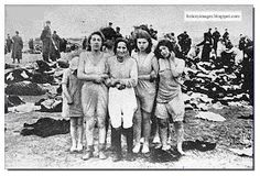 Jewish women before their execution  Liepeja, Latvia, Einsatzgruppen Nazi exterminators
