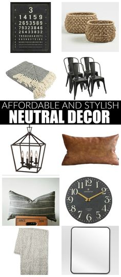 Neutral Favorites: Affordable Decor for a Stylish Home | Little House of Four - Creating a beautiful home, one thrifty project at a time.: Neutral Favorites: Affordable Decor for a Stylish Home