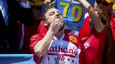 Joey Chestnut eats 70 hot dogs, wins Nathan's Famous crown