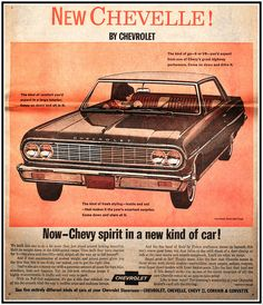 1964 Chevelle  I have a lead printing plate of this Ad, very similar with a few differences. Same Lady & car, with different words in a few places...