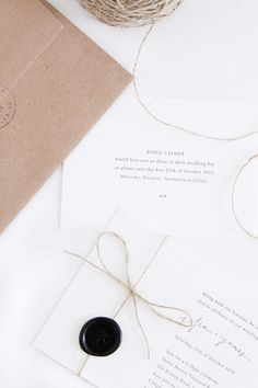 Beautiful simple invitations.
