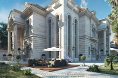 Luxury Palace ( Riyadh ) on Behance Classic House Design, Modern Mansion, Luxury Homes Dream Houses, Location, Exterior Design, Beautiful Homes, Behance, Structural Analysis, Luxury Mansions
