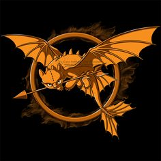 I love this! This should be the Thawfest Games symbol. HTTYD/ Hunger games