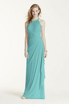 MORE COLORS Long Mesh Dress with Illusion Neckline Style F15662 In Store & Online $159.00