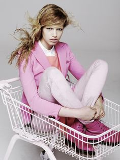 Hailey Clauson  -  Exit Magazine love the pink doc martins