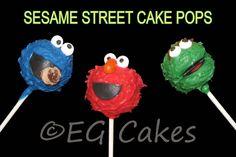 CakePops - Sesame Street Cookie Monster, Elmo & Oscar the Grouch http://www.sevenlittlemonkeys.com