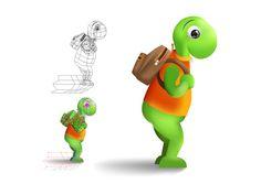Turtle character final concept gfx