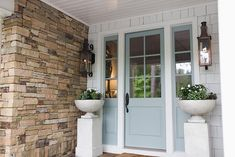 LINEN & FLAX CO. (@linenflaxhome) • Instagram photos and videos Front Porch, Windows, Doors, Photo And Video, Pretty, Blue, Instagram, Videos, Photos