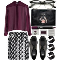 """""""until we bleed."""" by jesicacecillia on Polyvore: Vintage Inspired Classic Wayfarer Clubmaster Clear Lens Glasses 2933"""