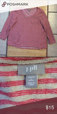 FREE!!! J. Jill Stretch Petite Beautiful and only worn one time. FREE Shirt with any purchase from my closet. I'm cleaning out the closet and giving away some great deals. Please mention the free item when you purchase another item. J. Jill Tops Tees - Long Sleeve
