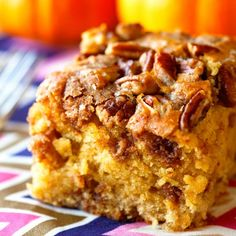Melt in your mouth Pumpkin Coffee Cake. Grab a cup of joe and dig in. This is the perfect thing to enjoy on a chilly fall afternoon!