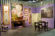 Here are a few pictures of my booth at Maison & Objet in January. Views of my booth. Hand Painted Ornaments, Valance Curtains, Fine Art, Trade Fair, Creative, Painting, Murals, January, Interiors
