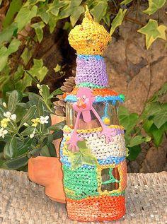 Crochet Hundertwasser-Style Recycled Art
