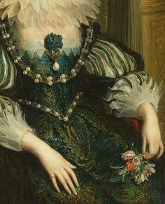 Peter Paul Rubens. Detail from Portrait of Anna van Oostenrijk, 1625.