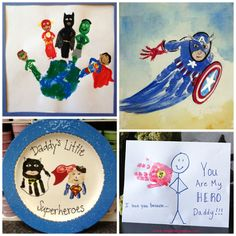 handprint crafts superhero