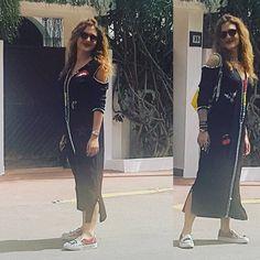 PrecollectionRamadan2017#byFatineBenchekroun#djellaba2017#Collection RocknRoll#fashion#trend#style#traditionalclothes#bedifferent#casablanca#Morocco#Milano#Dubai#paris Kaftan Abaya, Oriental Dress, Moroccan Caftan, Mode Style, Fashion Outfits, Womens Fashion, Jelsa, Style Inspiration, Shirt Dress