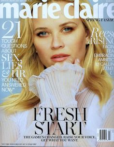 "Reese Witherspoon Covers MARIE CLAIRE, Talks FEAR  ||  41-year-old 'A Wrinkle in Time' actress Reese Witherspoon covers the March issue of MARIE CLAIRE Magazine, which arrives on newsstands February 20. Witherspoon reveals that she read 'A Wrinkle in Time' when she was very young, saying: ""I read it in sixth grade and I just loved it. I thought I was Meg Murry. I didn't…"