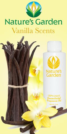 Fabulous vanilla scents from the world renowned Natures Garden Fragrance Oils. These fragrances are typically used to make candles, soap, cosmetics, and bath and body products. #vanillascents