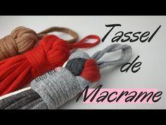 Como fazer tassel de macrame 4 gomos com fio de malha (SUPER FÁCIL) - Novelo Rosa - YouTube