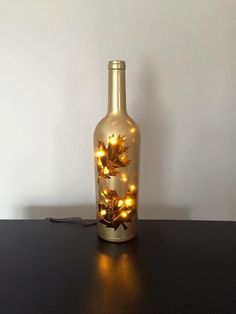 7 Wine Bottle Ideas Perfect For Fall. Fun and easy ways to decorate your home this fall. Recycled empty wine bottles and add one of a kind touches to your home. Empty Wine Bottles, Lighted Wine Bottles, Diy And Crafts Sewing, Diy Crafts, Wort Collage, Christmas Crafts, Christmas Decorations, Bottle Decorations, Christmas Wine Bottles