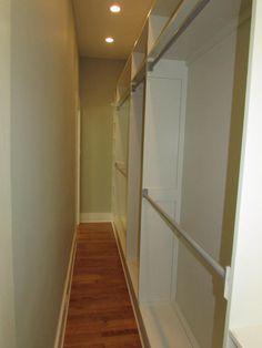 "Narrow ""walk through"" closet"