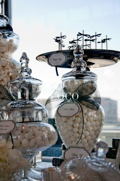 #Chanel Black and White #Wedding theme. Wedding dessert buffet.