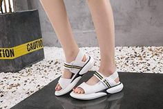 552a858d036 Sandals Women s Thick-Soled Platform Shoes Wild Breathable Flat Sports    Leisure Velcro Sandals Trends