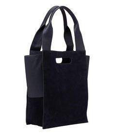 Paperbag Liebeskind Berlin Olivia ToteL Velourleder dunkelblau Hydro Suede Clutch, Shopper, Hobo Bag, Reusable Tote Bags, Material, Design, Products, Dark Blue, Clay