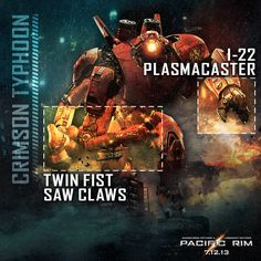 #Jaeger #Weaponry: Crimson Typhoon #PacificRimIT #PacificRim